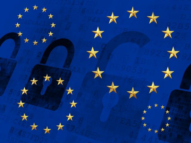 GDPR EU Stars Lock Image